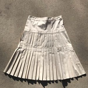 MAGASCHONI Knife Pleat Cotton Midi Skirt